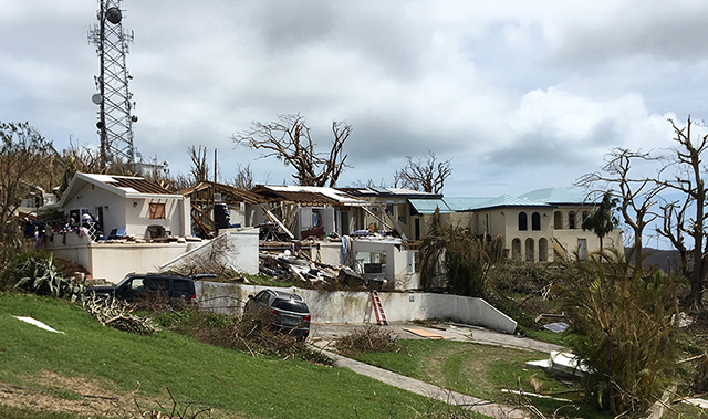 US Virgin Islands Wrecked Home